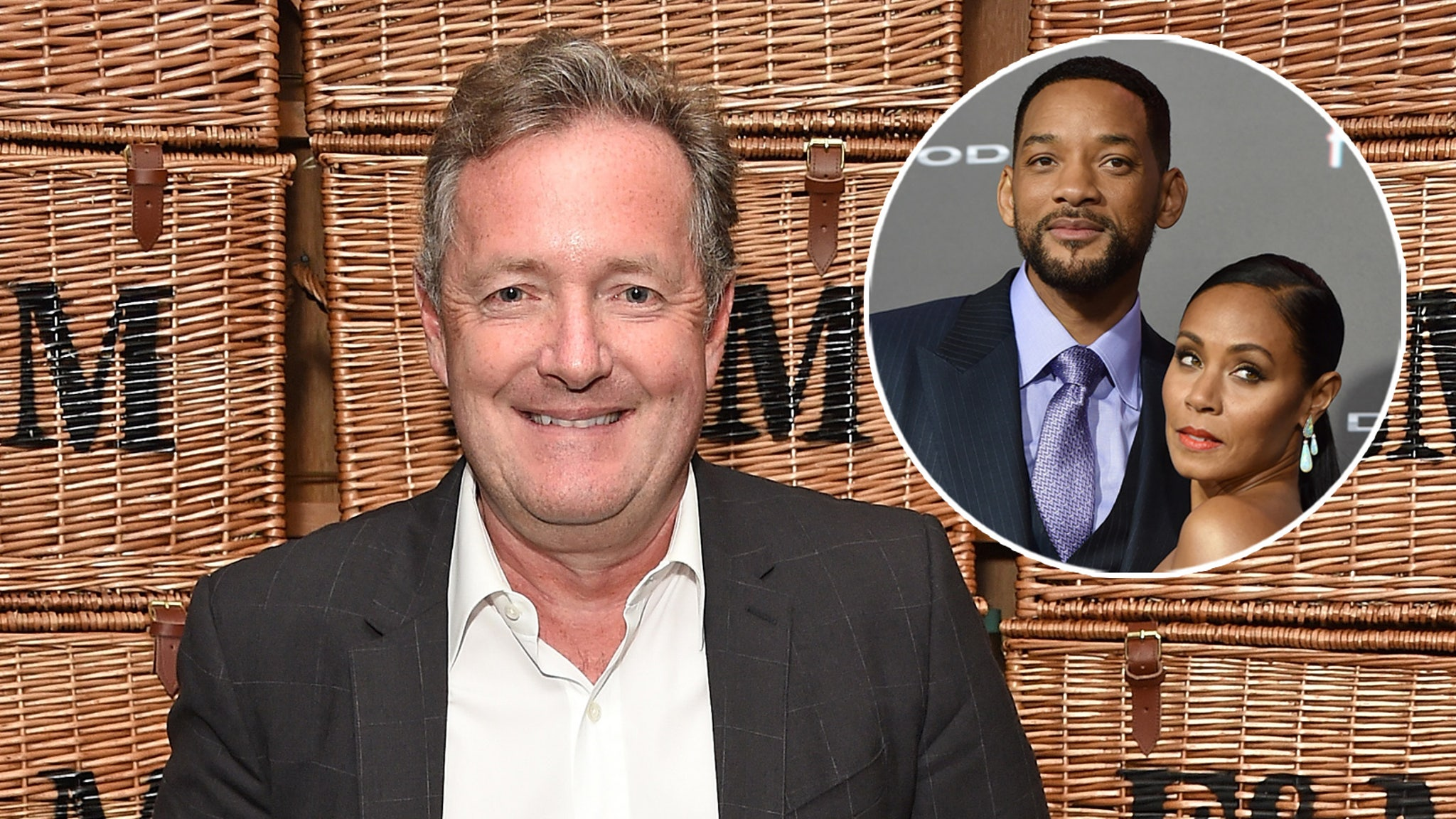 Piers Morgan Says Will Smith Once 'Secretly Crept Into Studio' to Watch Jada's Interview About Couple's Sex Life