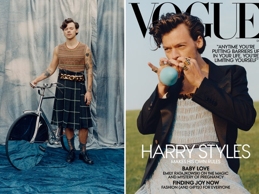 Harry Styles Rocks Gucci Dress As Vogue's First Solo Male Cover Star