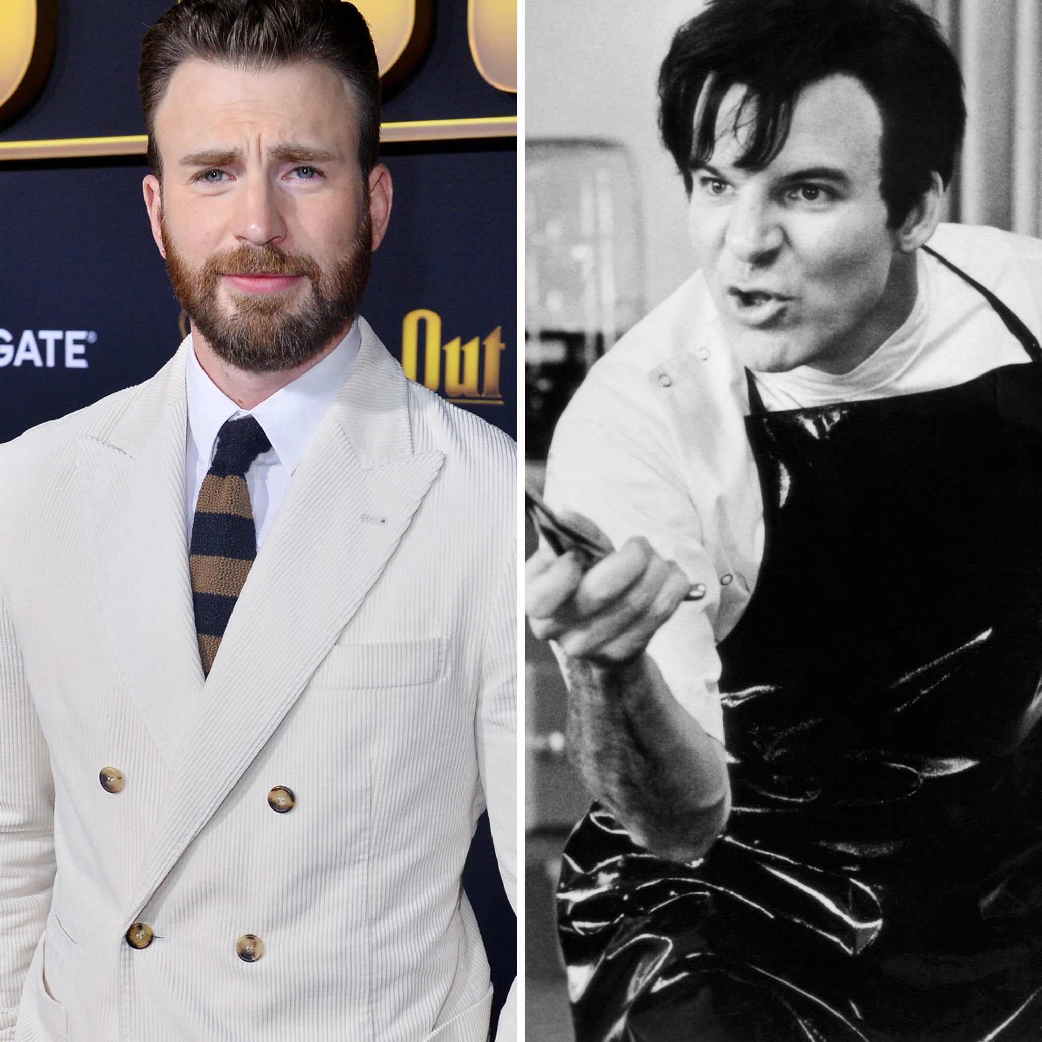 Chris Evans as Orin Scrivello in Little Shop Of Horrors.
