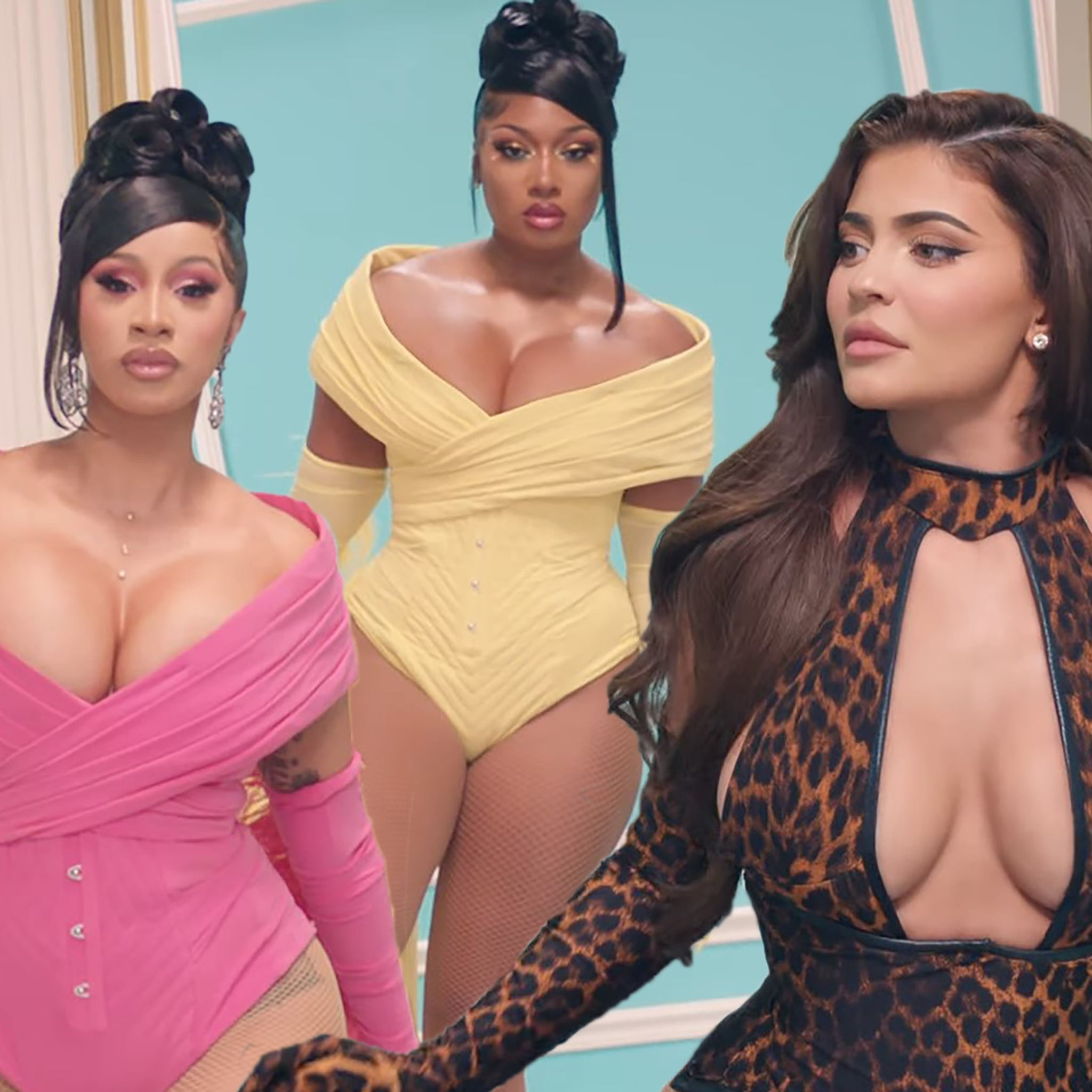 Cardi B And Megan Thee Stallion Welcome Kylie Jenner Normani And More To Wap Music Video