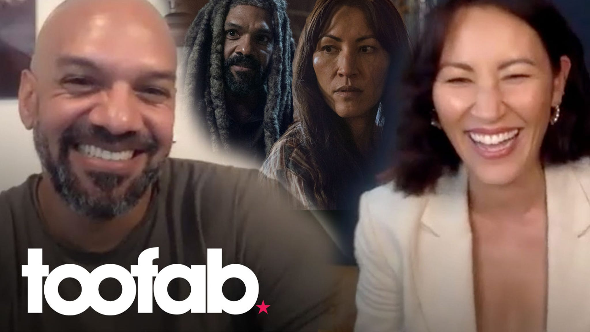 The Walking Dead's Khary Payton and Eleanor Matsuura poke fun at Commonwealth twists and turns