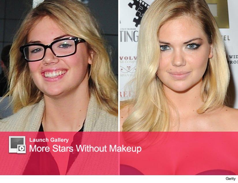 Kate Upton Goes Makeup Free While Traveling
