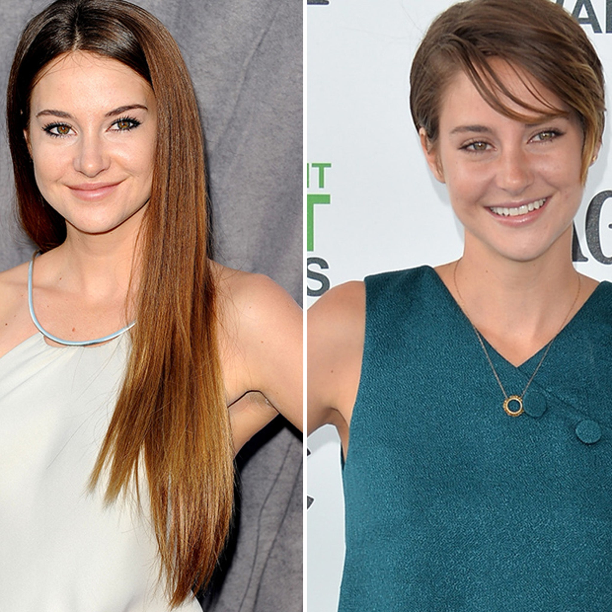 Video Shailene Woodley Cries After Getting Pixie Cut For Fault In Our Stars