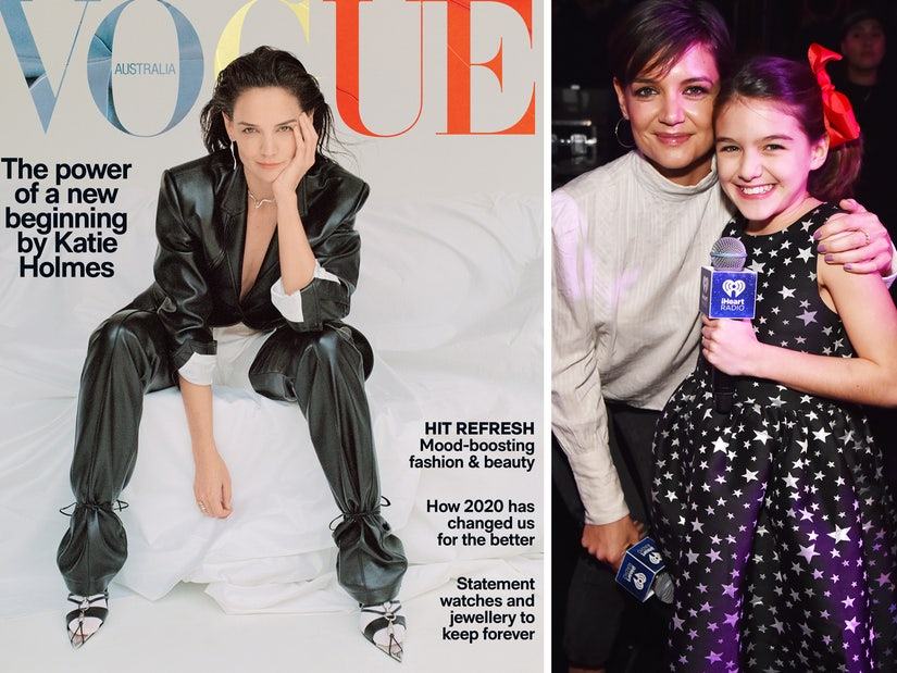 Katie Holmes Stuns In Edgy Vogue Australia Photoshoot Talks Quarantine With Suri