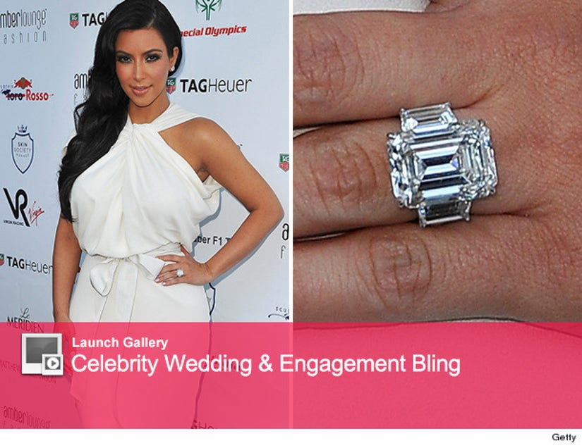 Kim Kardashian S Engagement Ring How Much Did It Sell For At Auction