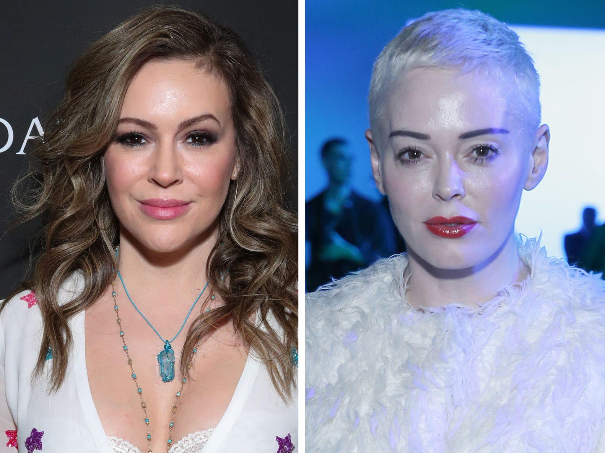 Rose Mcgowan Slams F King Fraud Alyssa Milano Claims She Made Charmed Set Toxic
