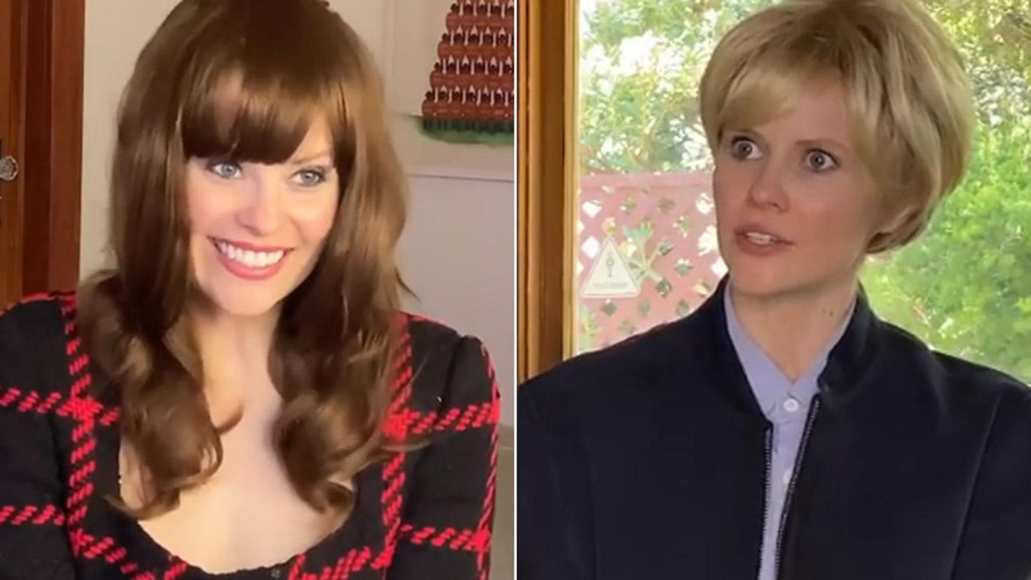 Parenthood Star Sarah Ramos Lovingly Recreates All the Cringe of That Dakota Johnson 'Ellen' Interview