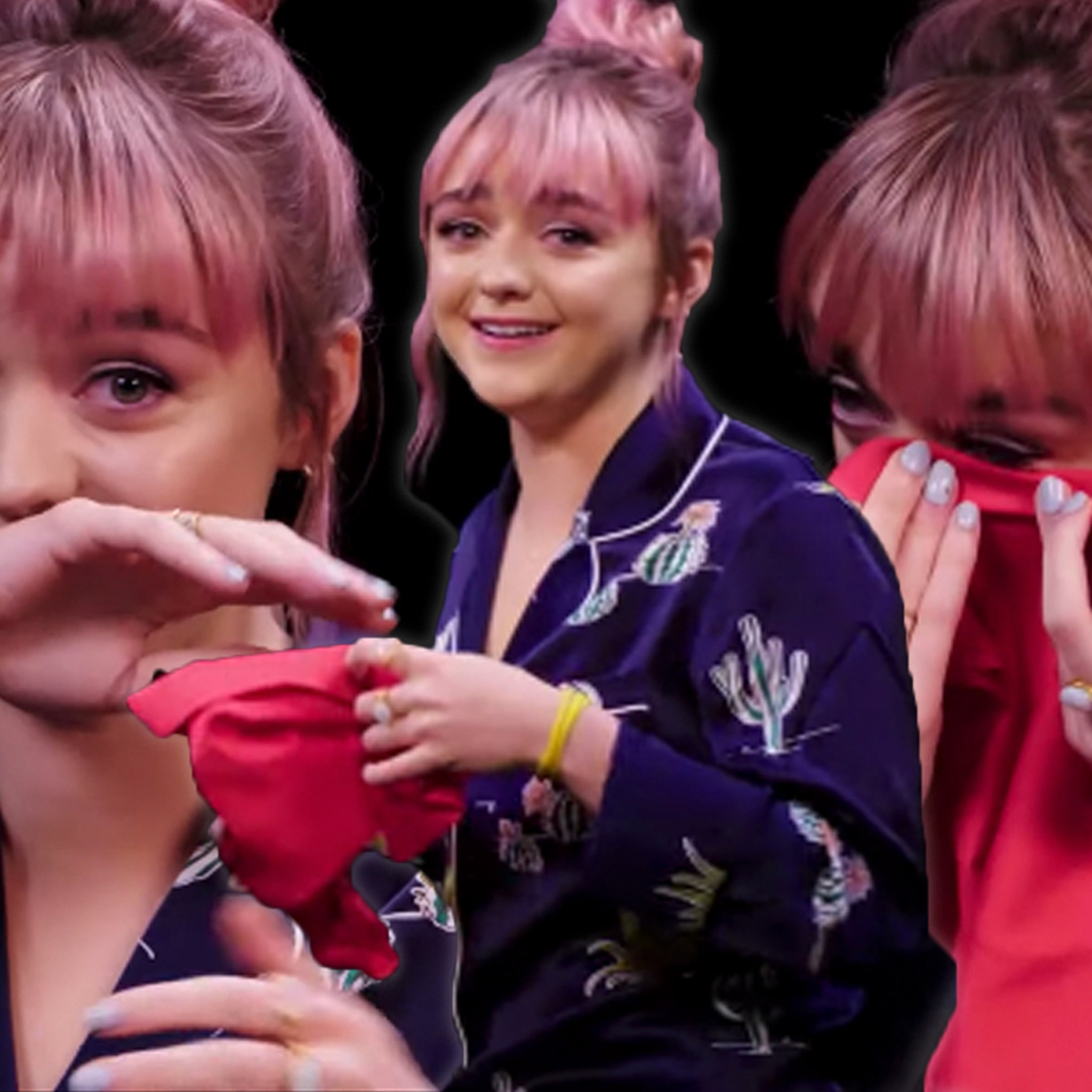 Maisie Williams Answers Burning Game Of Thrones Questions On Hot Ones 22 года (15 апреля 1997 г.) maisie williams answers burning game of