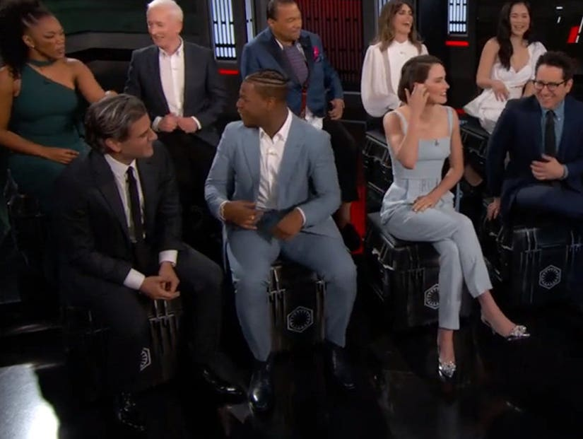 Star Wars The Rise Of Skywalker Cast On Jimmy Kimmel Live