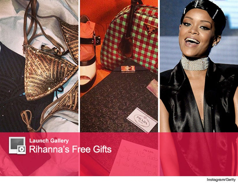 Rihanna Shows Off Christmas Presents From Designer Pals See The Sweet Swag