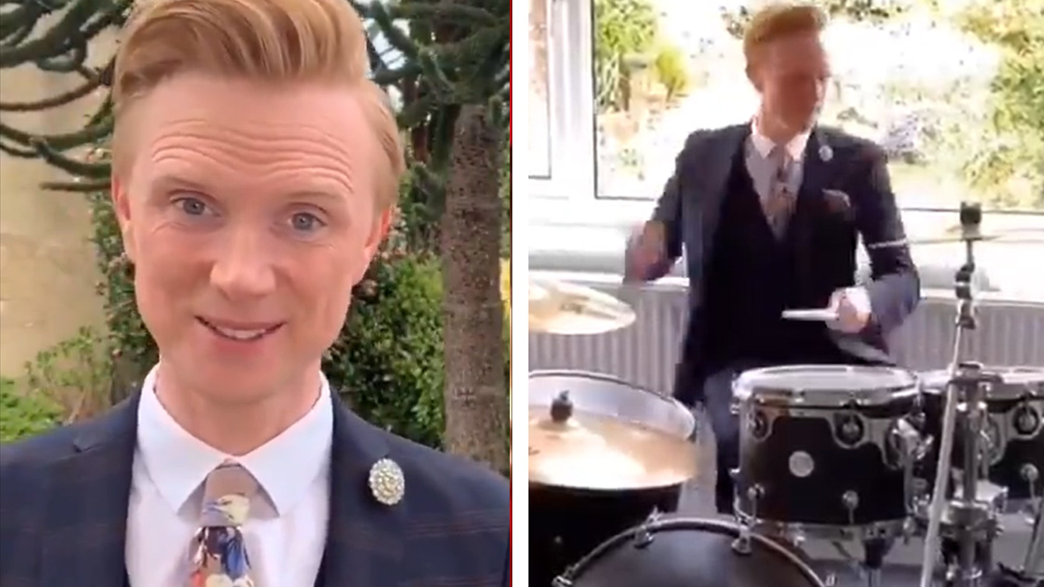 BBC Weatherman Presenting from Home Concludes Forecast With Epic Drum Solo