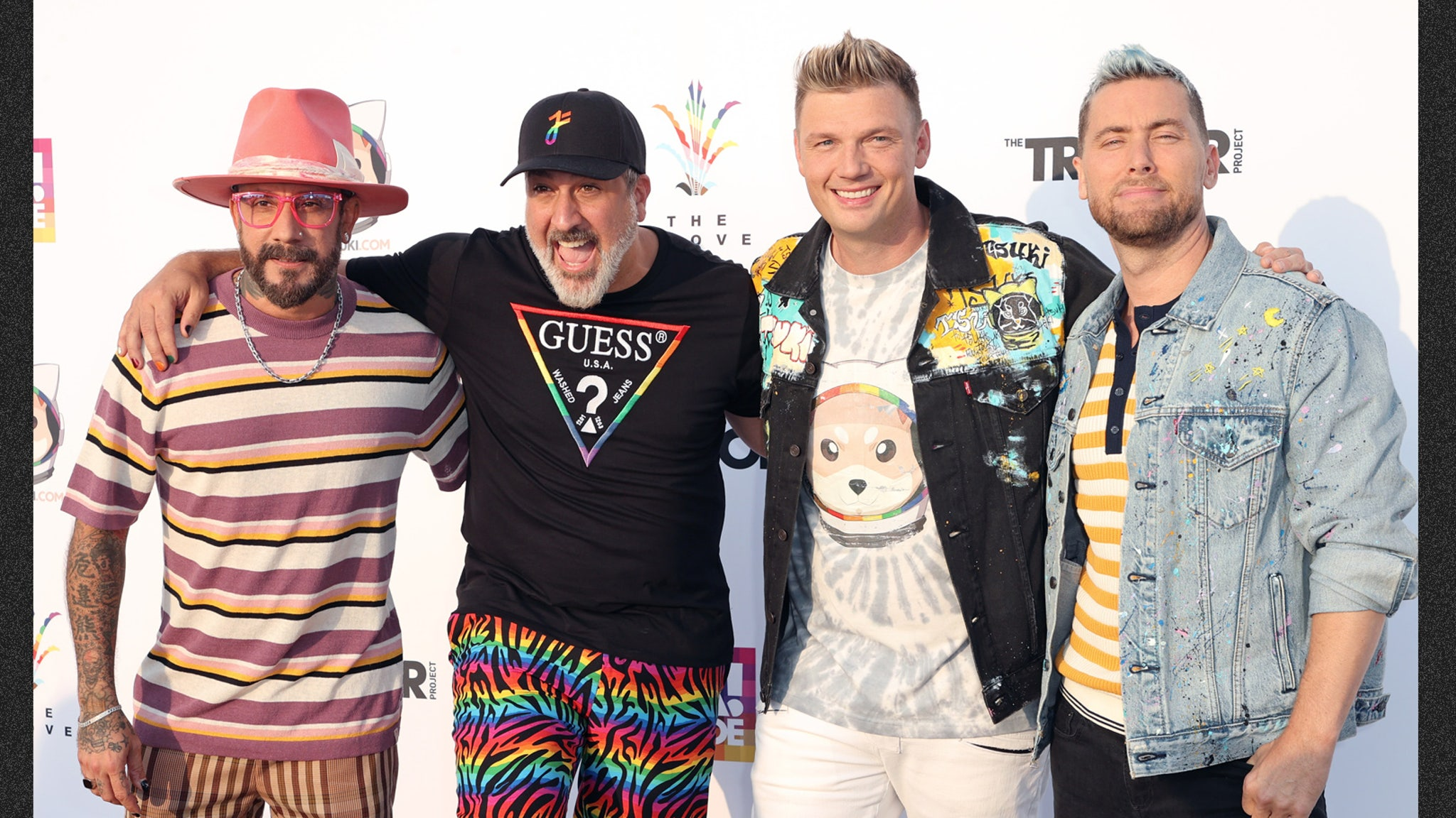 Backstreet Boys and NSYNC members perform together in celebration of pride