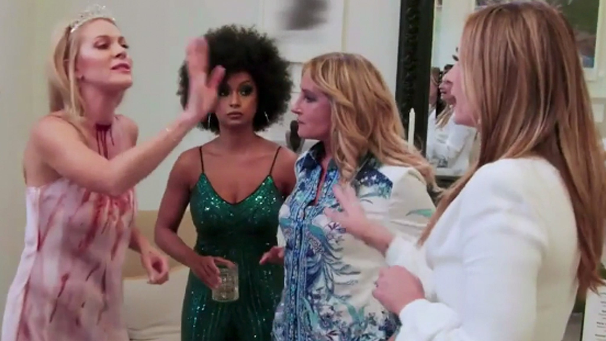 Fight Spills Online After Leah Explodes On Heather On RHONY By Election