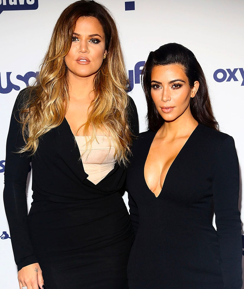 Kim & Khloe Strip WAY Down for Yeezy Season 3 Promo Shoot -- Check Out These BUTTS!