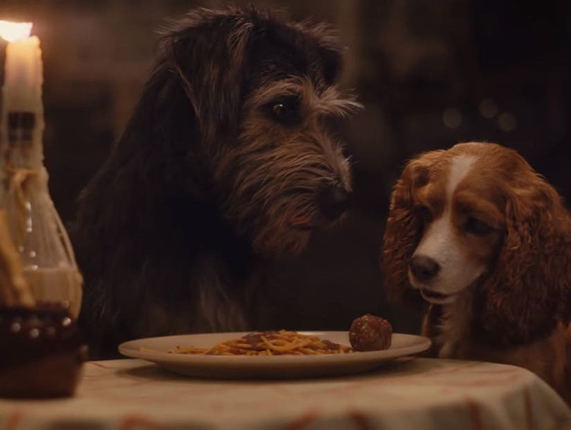 Lady And The Tramp Trailer Features Iconic Meatball Scene
