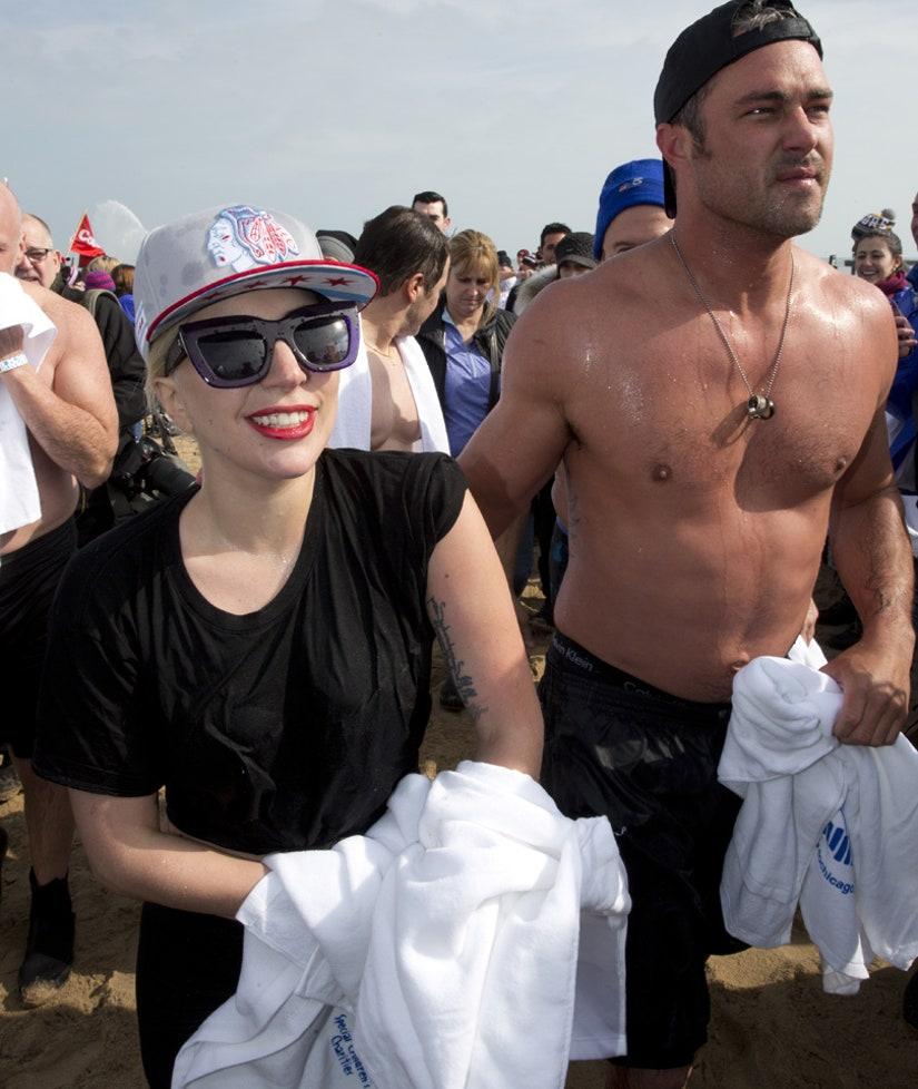 Lady Gaga In Bikini & Boyfriend Christian Carino Show PDA