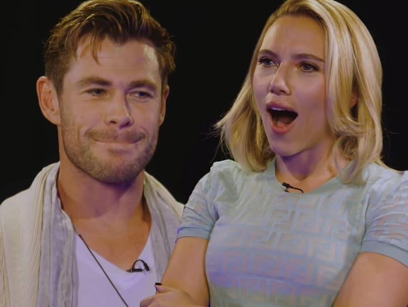 Scarlett Johansson And Chris Hemsworth Insult Battle Avengers Endgame Stars Face Off