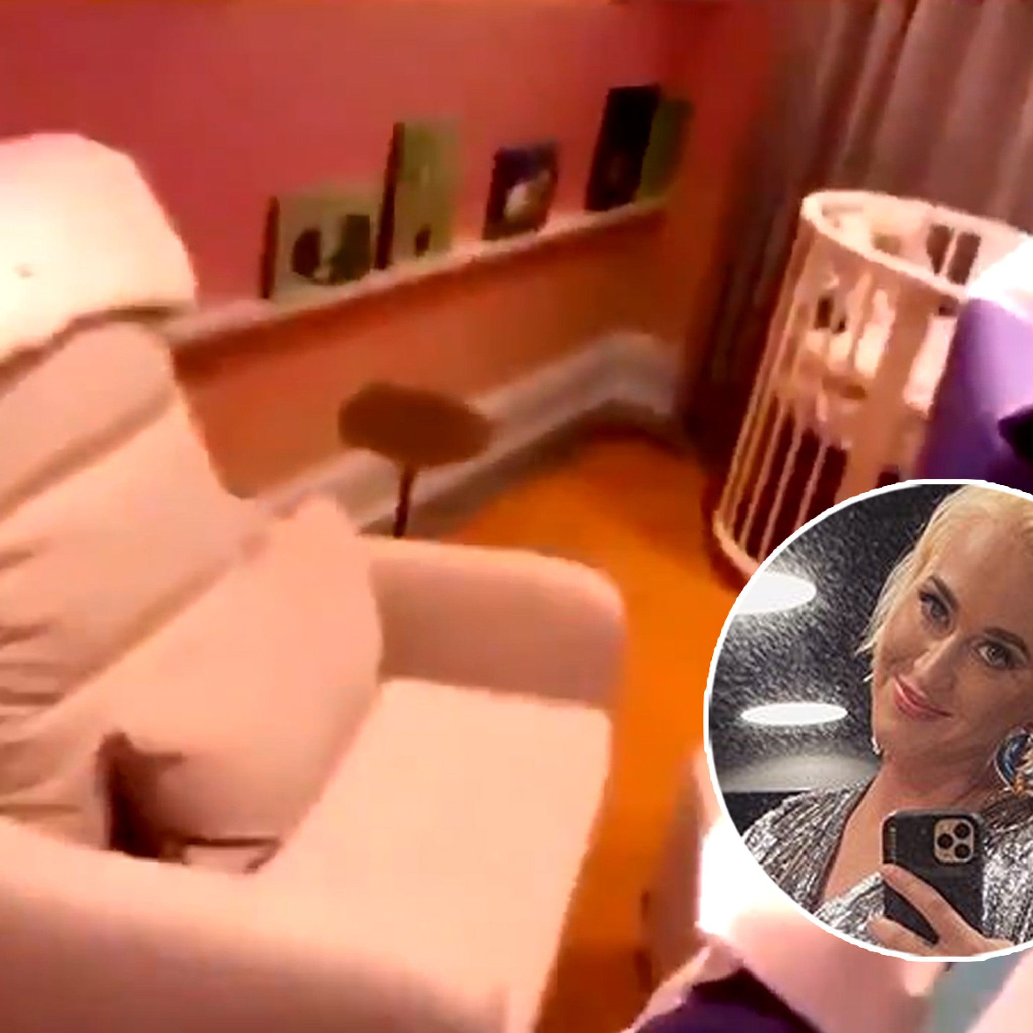 Katy Perry Shows Nursery For Her Baby Girl