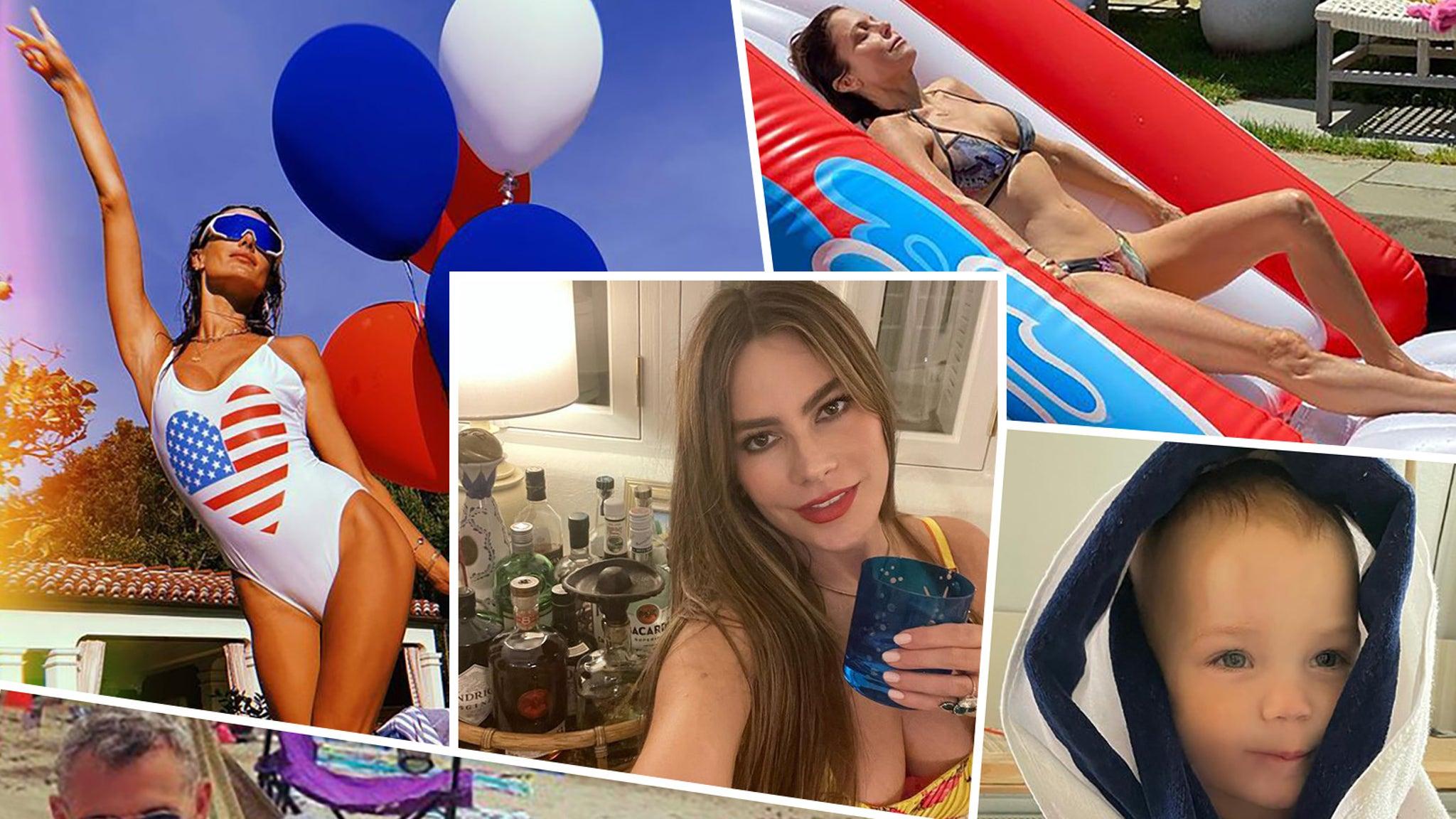 Beach, girls and bikinis: how Hollywood celebrated on July 4, 2021