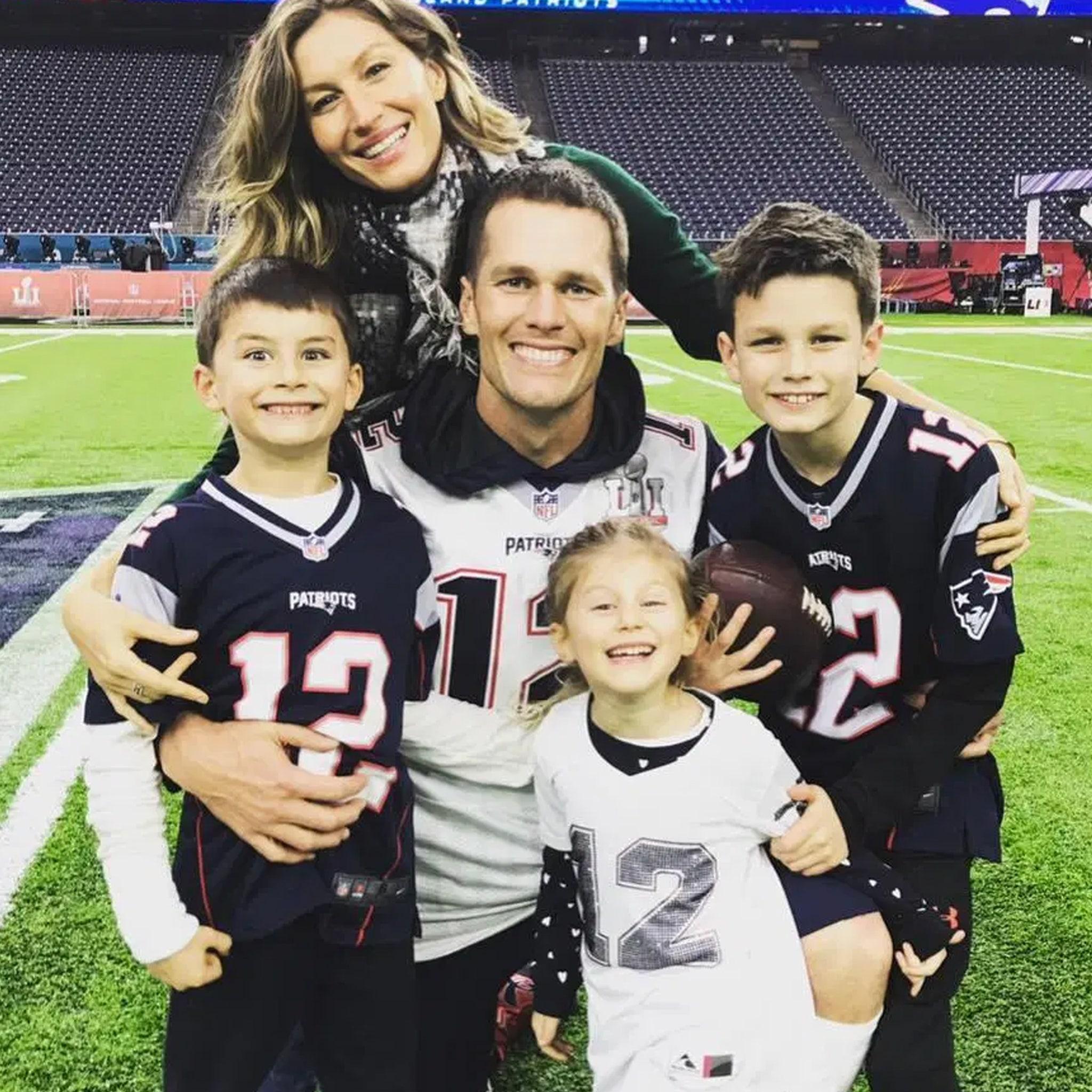 Tom Brady & His Wife & Children