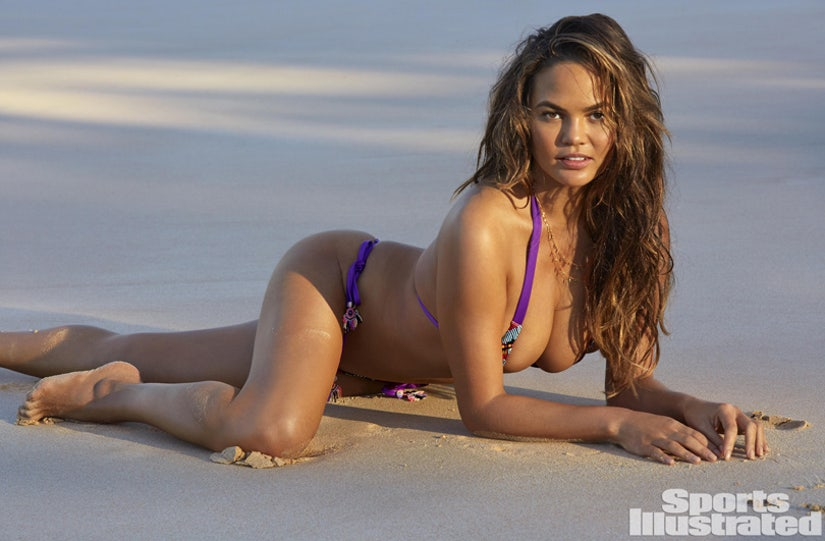 See Chrissy Teigen's First Post-Baby Bikini Shoot for Sports Illustrated (Photos)