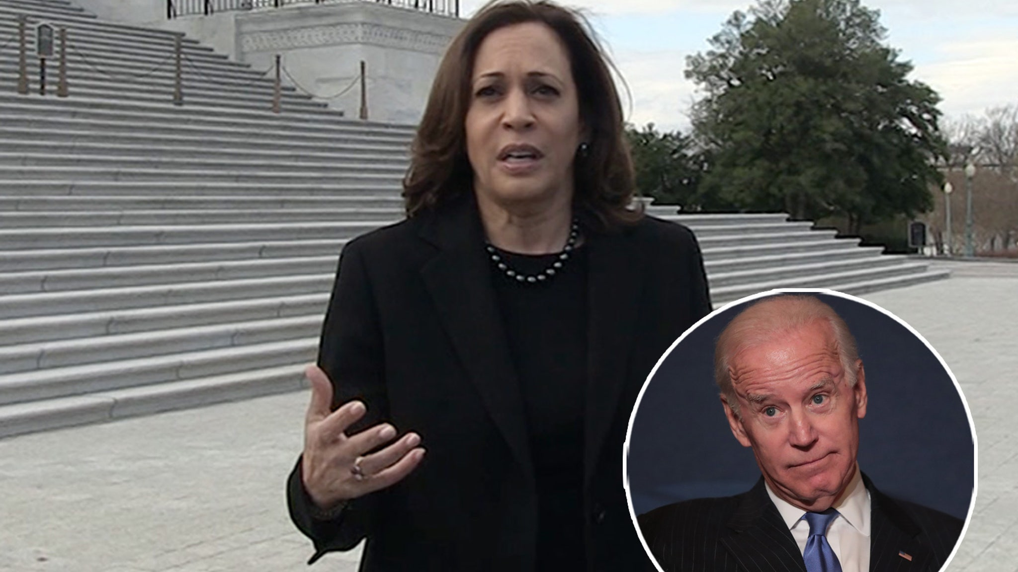 Kamala Harris Refuses to Address Biden VP Ticket Amid