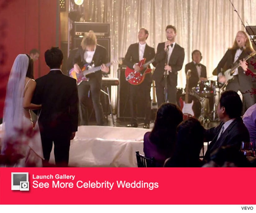 "Maroon 5 Crashes Weddings In ""Sugar"" Music Video -- And"
