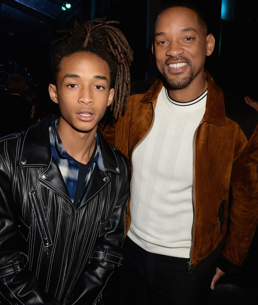 Will Smith Chops Off Son Jaden Smith's Hair for Movie Role - And Then Tries It On (Photo)