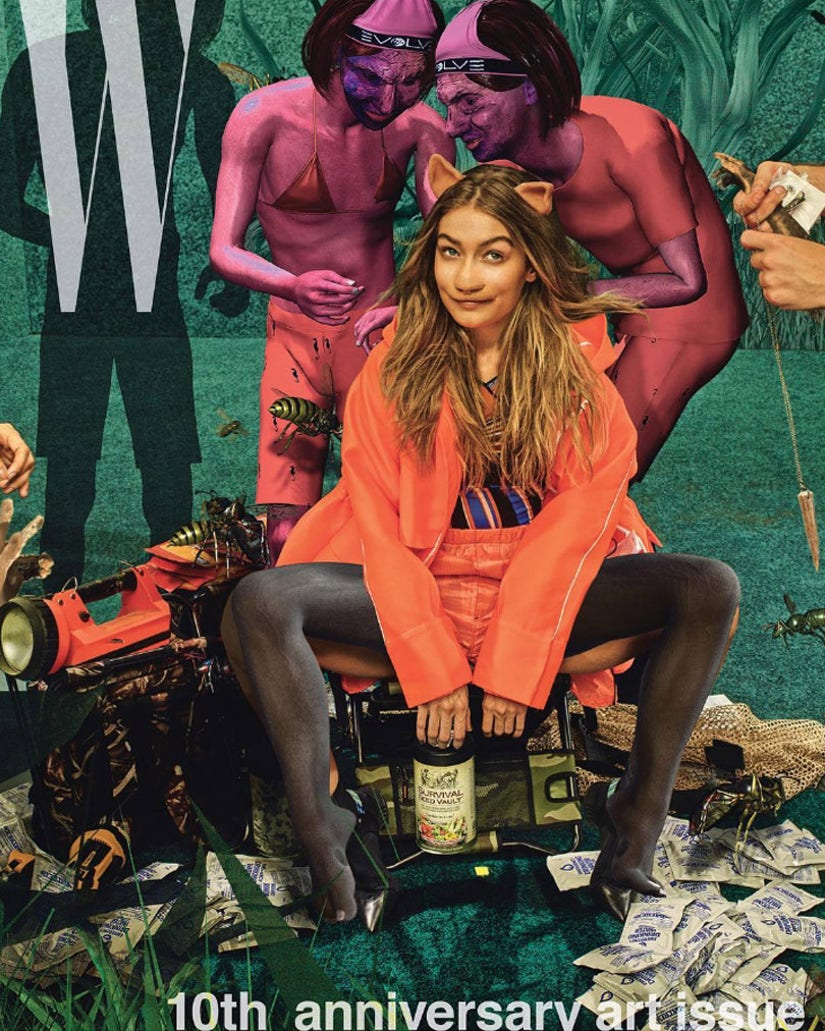 """Kendall Jenner & Gigi Hadid are Unrecognizable as """"Humanoid Creatures"""" in W Magazine--See the Pics!"""