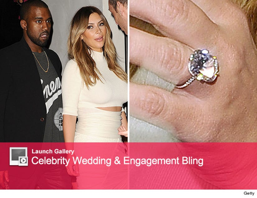 Kim Kardashian Goes Public With Her Engagement Ring See New Pic