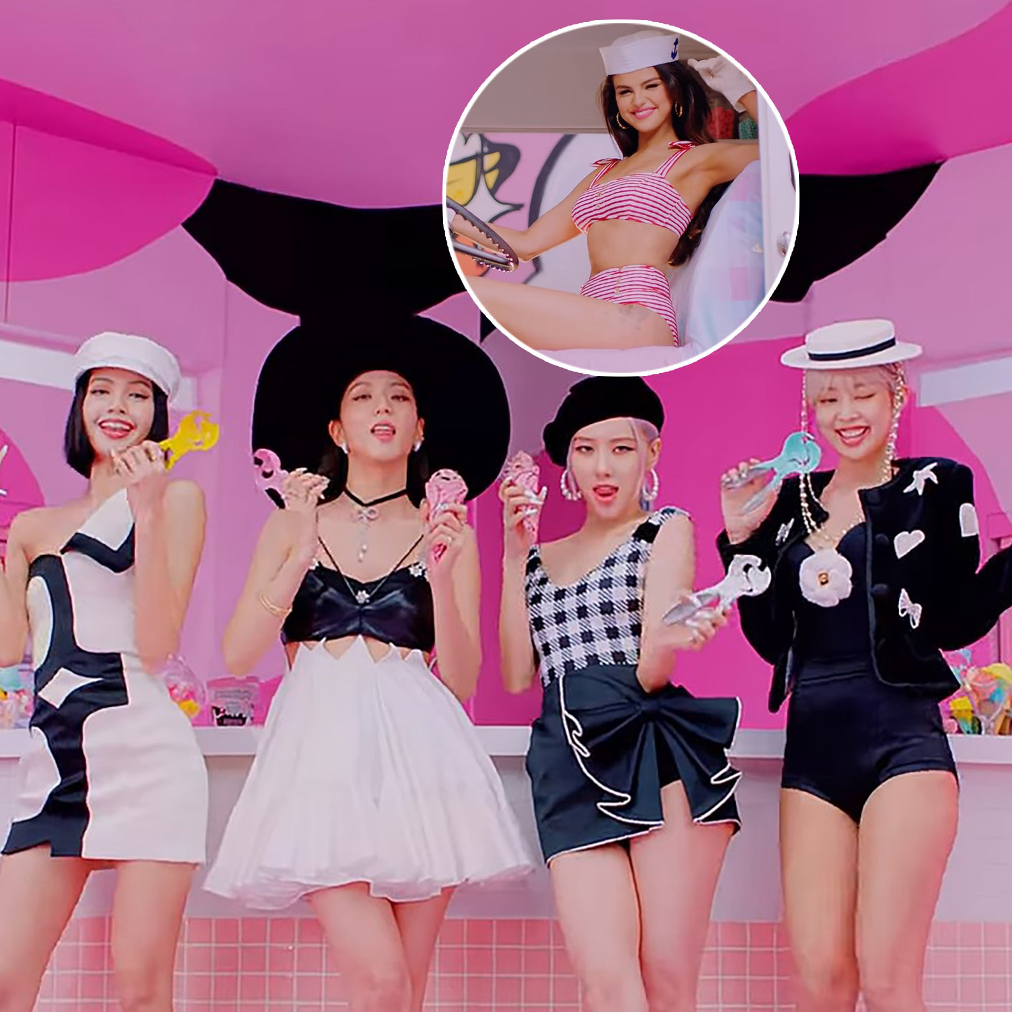 Selena Gomez And Blackpink Join Forces For Sexy Sweet Ice Cream Music Video