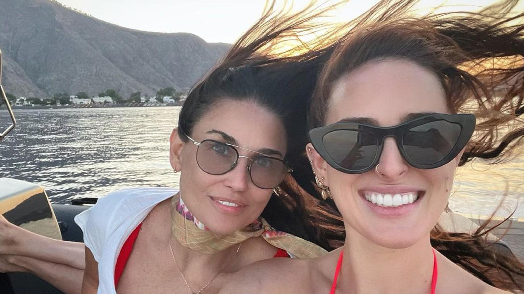 Demi Moore and Rumer Willis Vacation in Santorini