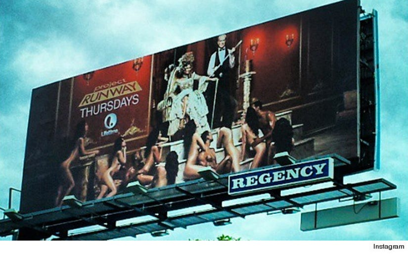 Heres The Naked Project Runway Billboard That Was