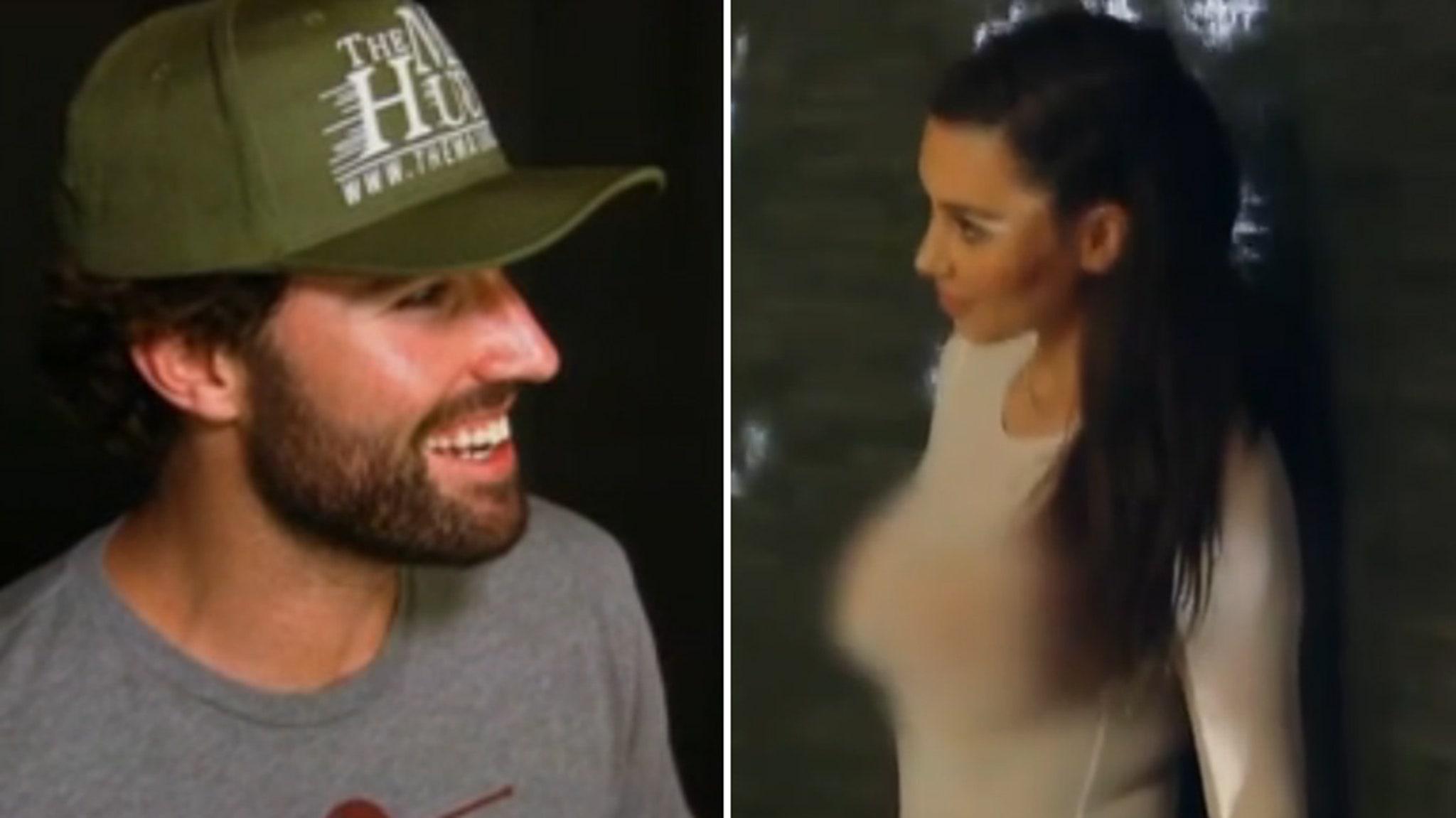 Kim Kardashian Kissed Her Step-Brother Brandon Jenner