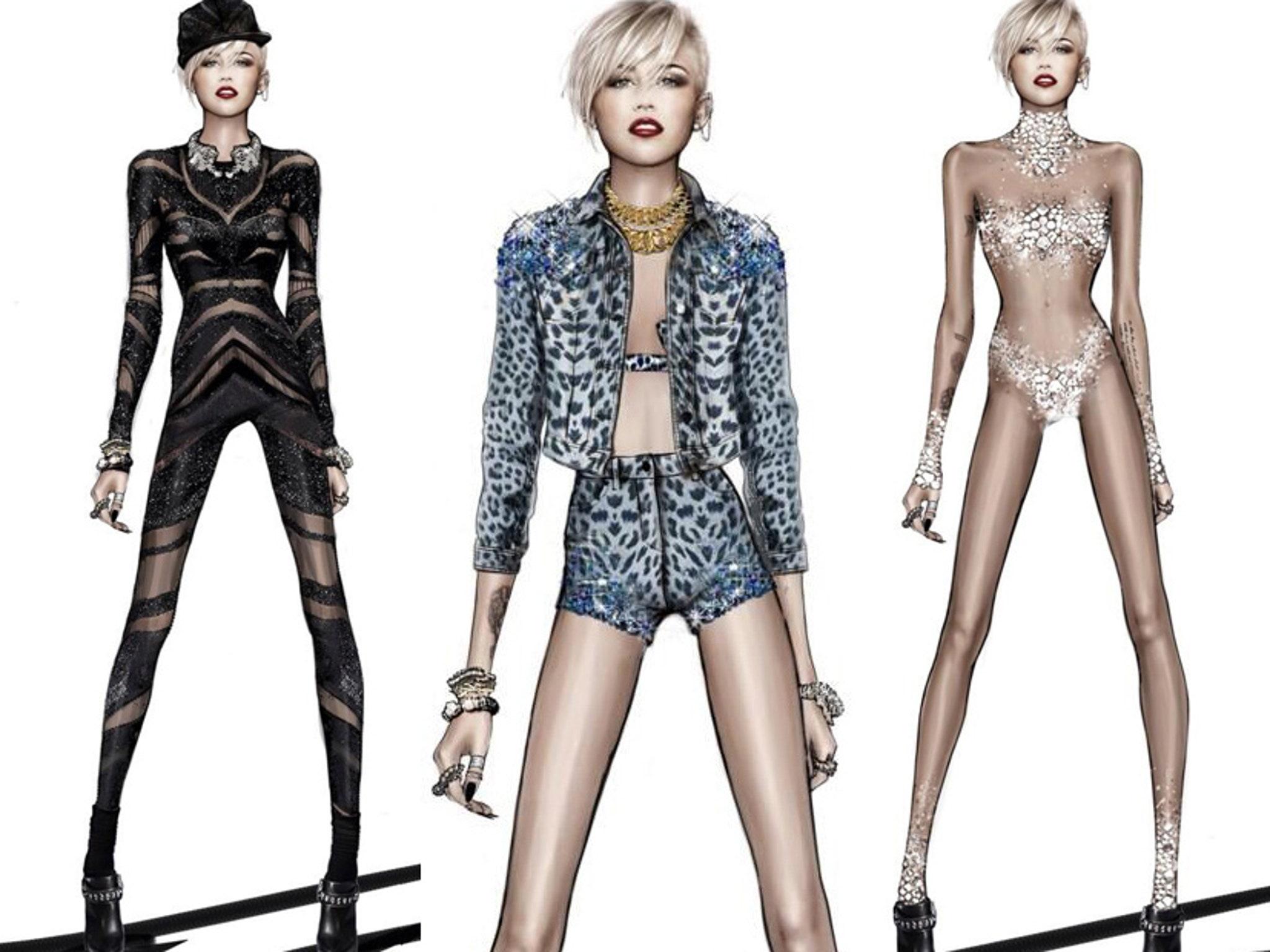 Roberto Cavalli Reveals Miley Cyrus Bangerz Tour Costumes