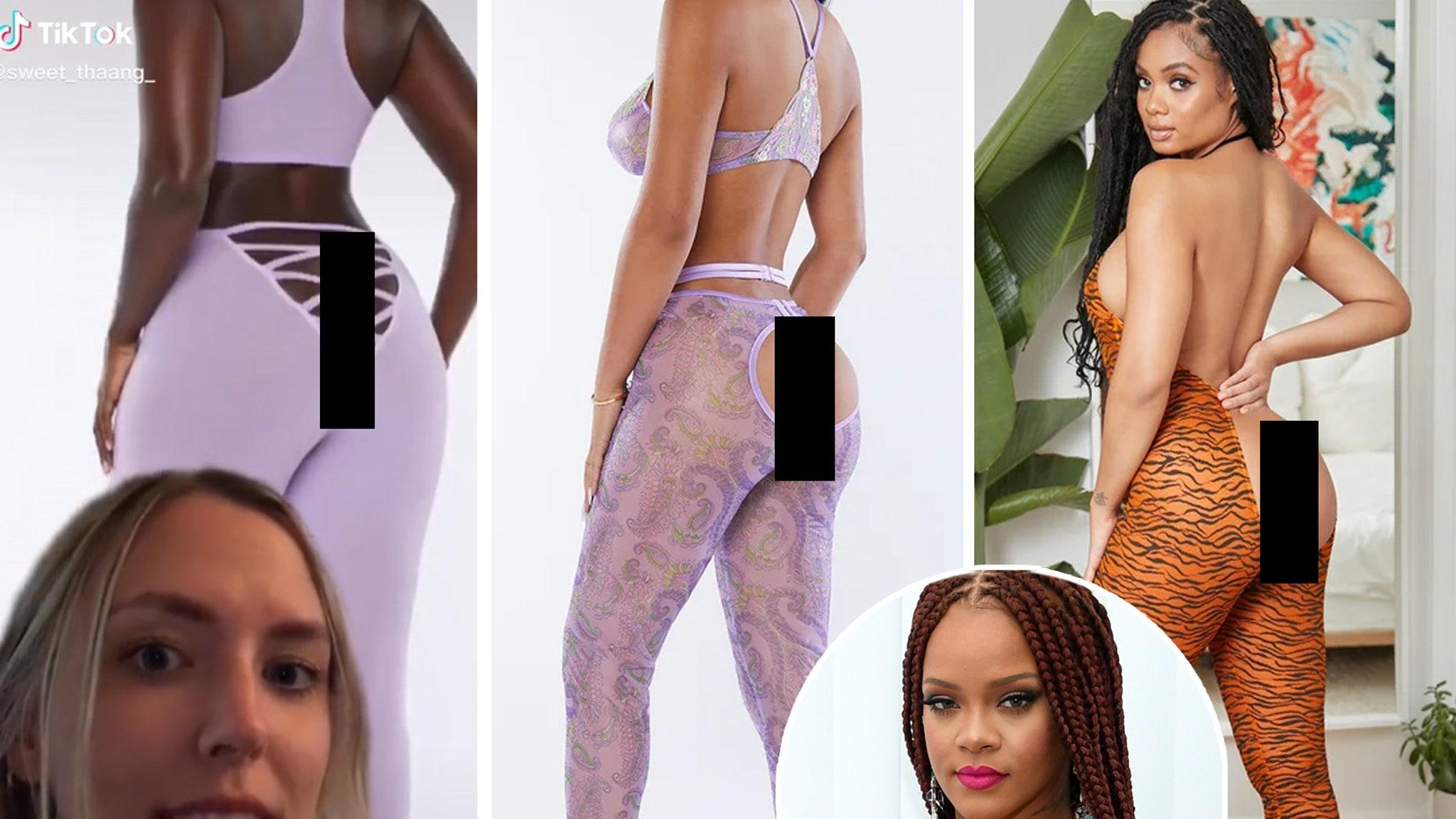 Internet divided by Rihanna's buttless leggings