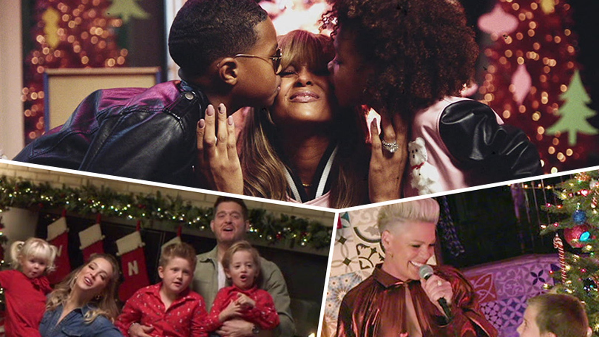 Pink, Ciara and Michael Buble's Kids Steal the Show on ABC's Disney Holiday Singalong - TooFab