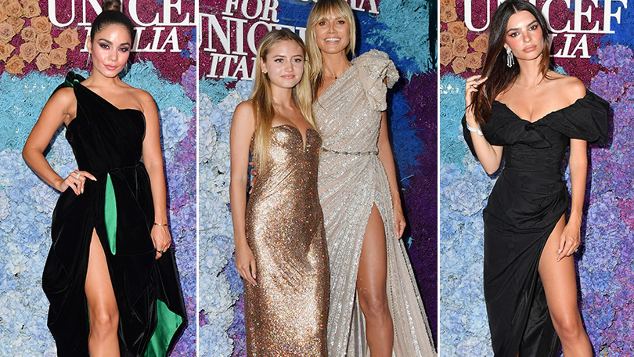 Heidi Klum's 17-year-old daughter Leni joins her on the red carpet at the LuisaViaRoma gala