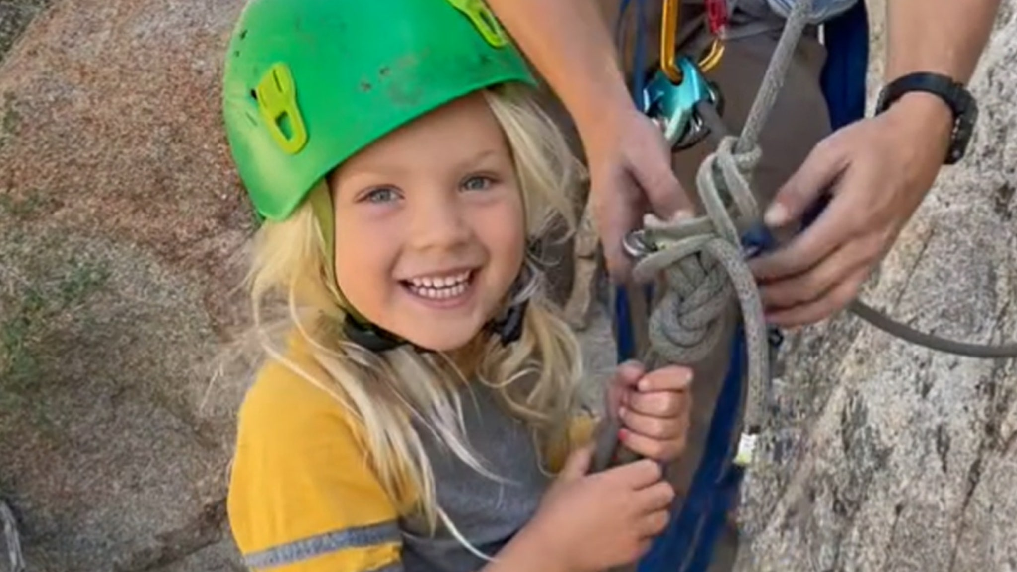 The children of P!  Nk and Carey Hart are fearless as they climb